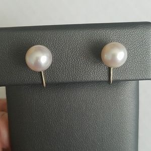 Mikimoto 14K Gold w/ 9mm Pearl Earrings
